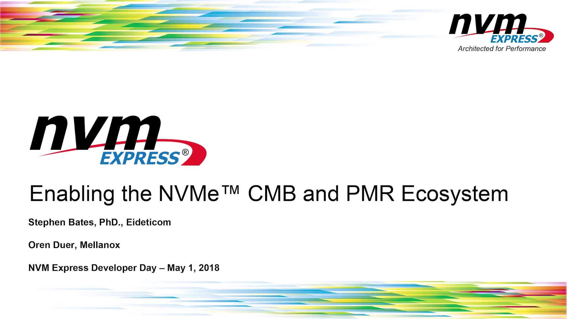 Enabling the NVMe CMB and PMR Ecosystem