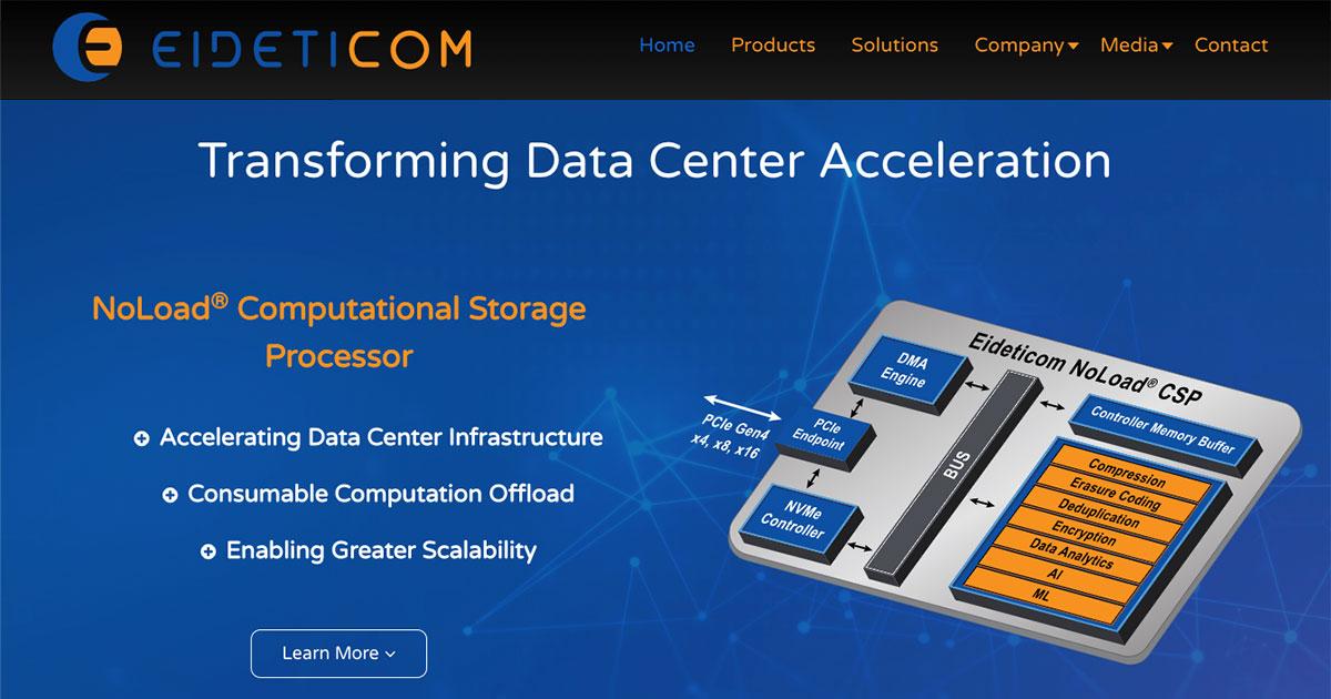 Eideticom Computational Storage - Eideticom